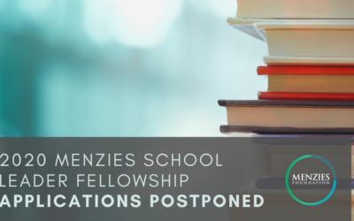 2020 Menzies School Leader Fellowship applications postponed